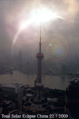 Totale Sonnenfinsternis in China am 22.Juli 2009